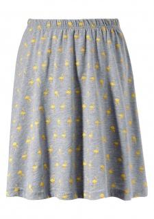 Aniston Damen Rock Minirock Mini Falten Faltenrock Skirt grau Gr. 34 617482
