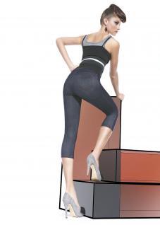Fashion Leggings Leggins 3/4 Capri Hose Denim Jeggings kurz 200den Blanka Short