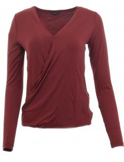 Bodyflirt Shirt Wickeloptik langarm Bluse Tunika Pullover bordeaux 32 945191