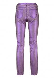 Laura Scott Damen Röhrenhose Hose Jeans Glanz Röhre Stretch lila 686180 - Vorschau 5
