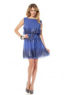 Vince Camuto Chiffonkleid Kleid Skirt Pailletten baja blue Gr. 2 (38-40) 898770
