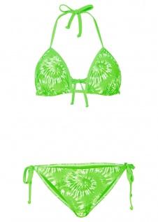 Rainbow Damen Triangel-Bikini Badeanzug Neckholder Push Up Bademode grün 929795