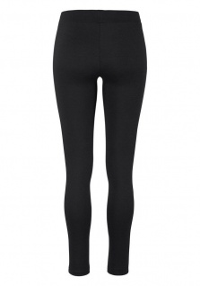 Laura Scott Damen Leggings lang Hose Leggings Kunstleder schwarz 800676