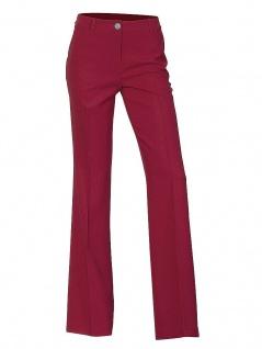 Damen Hose Comfort Fit Bügelfalte Chinos Stretch rot 072533