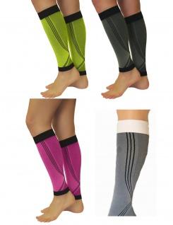 Elastische Sport Kompressions Stulpen Sleeves Strümpfe Beine Laufen 0408-01 - Vorschau 1