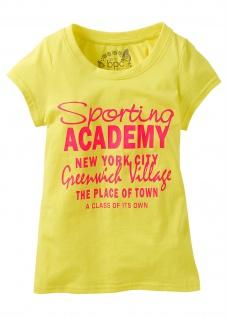 BPC Kinder T-Shirt Kurzarm bedruckt Shirt Baumwolle gelb Gr. 116/122 979662