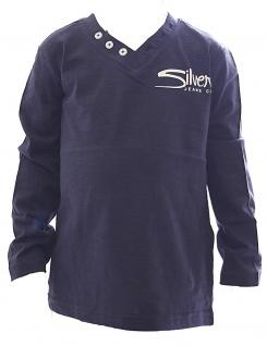 Kinder Shirt Langarm Pullover Knopfleiste V-Ausschnitt Jungen TSBF-82