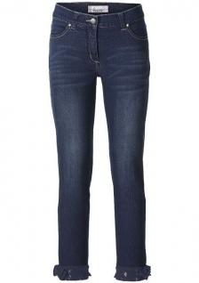 Linea Tesini Damen 7/8 Jeans Hose Spitze Jeanshose Stretch blue denim 021683