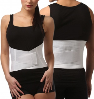 Rücken-Bandage Rücken-Stütze Schienen Klettverschluss Lendenwirbelsäule 0012