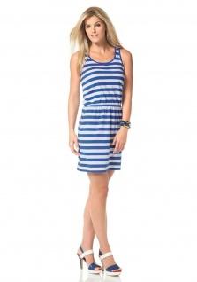 Chillytime Jersey Kleid Streifen ärmellos Ringel-Look blau weiss Gr. 32 807612