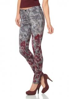 Laura Scott Damen Röhrenhose Hose Röhre Jeans Schlangen-Muster Stretch 334010 - Vorschau