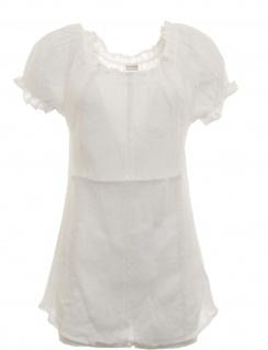 Cheer Damen Crashbluse Bluse Tunika Shirt kurzarm weiß Gr. 36 571865