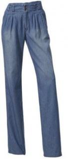 Mandarin Damen Bundfaltenhose Boyfriend-Style Bundfalten Hose Farbe sand 017292