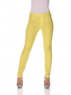 B.C. Damen Jeans-Leggings Hose lang Leggins Röhre Stretch gelb 022084 033795 - Vorschau 3