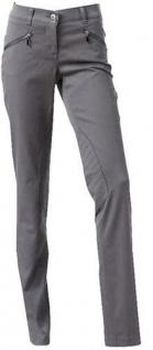 B.C. Damen Hose Slim Fit Röhrenhose Jeans Stretch Chinos mittelgrau 20 076977