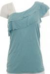 Buffalo Damen Shirt Volant One Shoulder Top Tunika Viskose blau 467492