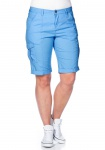 Sheego Damen Bermuda Shorts kurze Hose Stretch hellblau 316137