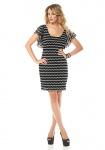 Siena Studio Kleid Zickzack-Muster Pailletten Cocktailkleid schwarz weiß 896926