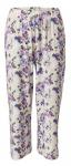 Heine Damen 7/8 Hose Blumen-Muster Stretch weiß 175296