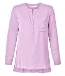 Sheego Damen Longtunika Tunika Bluse Shirt 3/4 Arm Brusttasche rosa 458956