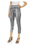 Class Damen 7/8-Leggings Hose Leggins Animal-Print Stretch bunt 033312