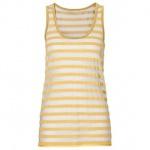 Rainbow Top Tank Tanktop Shirt ärmellos Streifen Häkel Loch gold 36/38 962471