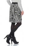 Aniston Damen Minirock Rock Mini Skirt Animal Muster 570245