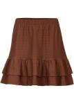 Bodyflirt Mini-Shirtrock Struktur Minirock Rock Skirt braun Gr. 40/42 955892