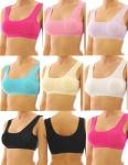 Damen Girl Mädchen Sport BH Comfort Bustier Unterwäsche Top Bambus 0972