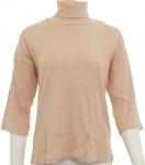 Chillytime Damen Rippenshirt Rollkragen Shirt 3/4 Arm Pullover hellrosa 336365