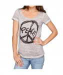 Rick Cardona Damen T-Shirt Strass Bluse Tunika kurzarm puder Gr. 34 070851