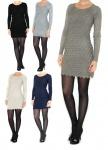Strickkleid Langarm Minikleid warm Longtop Tunika Kleid Abendkleid