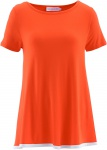Maite Kelly Damen Shirt Tunika T-Shirt Top Kurzarm mandarinrot 941884