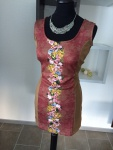 Melrose Damen Jerseykleid Kleid Blumenprint ärmellos Stretch bunt Gr. 40 237954