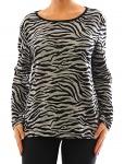 Damen Langarm Shirt Pullover Tiger Muster Bluse Stretch Tunika T-Shirt 351