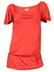 Heine Damen Wasserfall-Shirt Flügelärmeln Tunika Bluse Viskose orange 024563