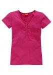 CFL Kinder T-Shirt Kurzarm Knopfleiste Bluse Baumwolle pink Gr. 152/158 110137