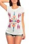 AJC Shirt Pailletten Longshirt ärmellos Top Tunika wollweiss Gr. 44 852219