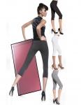 Capri Leggings Leggins 3/4 kurz Hose Stretch mit Taschen 200den Marika Short