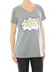 Damen Rick Cardona Shirt Pailletten Tunika Bluse T-Shirt Top V-Ausschnitt 031949
