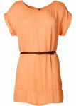 Rainbow Damen Long-Tunika mit Gürtel Shirt Bluse aprikose Gr. 38 971837