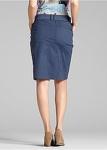 BPC Stretchrock Rock Stretch Skirt Knopfleiste Taschen dunkelblau Gr. 36 924164