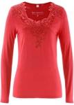BPC Damen Langarmshirt mit Spitze Shirt langarm Pullover hummer 40/42 911811