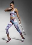 Sport Capri Leggings gemustert Radler Jogging Yoga Fitness 3/4 Sporthose Caty70