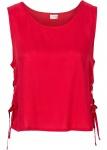 Bodyflirt Blusentop Schnürung Shirt Top Bluse Tunika ärmellos rot Gr. 40 928355
