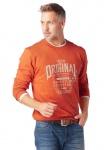 Grey Connection Herren Sweatshirt Pullover Pulli Shirt Aufdruck orange 669381
