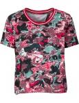 Rainbow Damen T-Shirt Bluse Tunika Shirt Blumenshirt Blumen Muster 945389