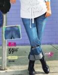 JFM Damen Jeans Hose Jeanshose Stretch Chino blue denim Kurzgr. 21 776380
