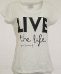 Vero Moda Damen T-Shirt Bella Shirt kurzarm bedruckt Bluse Tunika weiss 122500