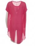 AJC Chiffon Jersey Mix Shirt mit Schwalbenschwanz Bluse Top Tunika Trendy 678821